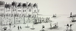 Summer Seashore Sketch III by Rebecca Lardner -  sized 20x8 inches. Available from Whitewall Galleries